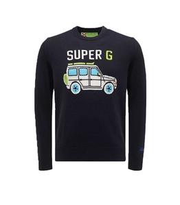 Mc2 Saint Barth - Maglie - maglione blu stampa super g