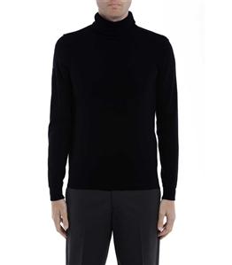 Paolo Pecora - Maglie - maglia collo alto nera