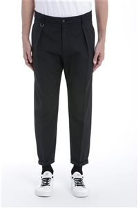 Paolo Pecora - Pantaloni - pantalone tessuto nero