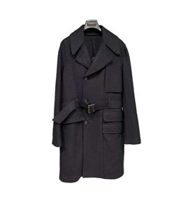 Paolo Pecora - Cappotto - cappotto doppiopetto blu