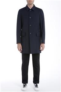 Paolo Pecora - Cappotto - cappotto tessuto blu