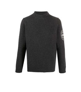Stone Island - Maglie - maglione lana grigio