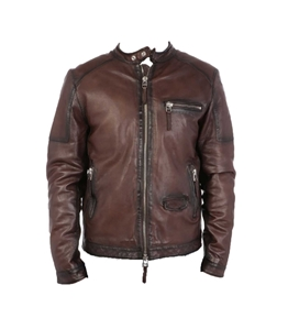 The Jack Leathers - Giubbotti - giacca in pelle bandit marrone