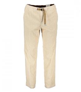White Sand - Pantaloni - pantaloni carrot cotone costa piatta panna