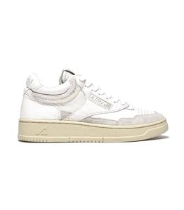 Autry - Scarpe - Sneakers - sneakers medalist mid open in mesh e pelle bianco