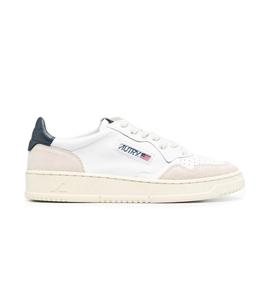 Autry - Scarpe - Sneakers - autry sneakers medalist low in pelle e suede bianco blu
