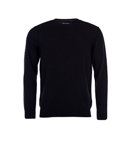 Barbour - Maglie - essential lambswool maglia girocollo nero