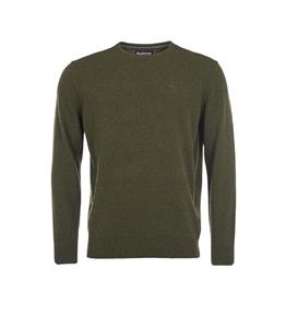 Barbour - Maglie - essential lambswool maglia girocollo verde alghe