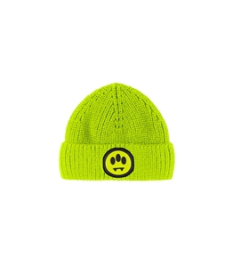 Barrow - Cappelli - cappello lana con logo giallo fluo