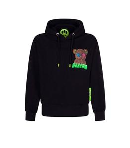 Barrow - Felpe - hoodie nera con cappuccio e stampa logo