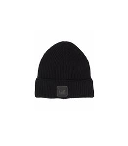 C.P. COMPANY - Cappelli - cappello metropolis series extra fine lana merino nero