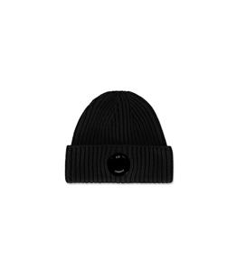 C.P. COMPANY - Cappelli - extra fine merino wool beanie nero