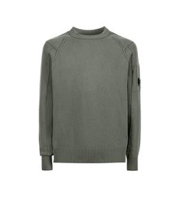 C.P. COMPANY - Felpe - lambswool crew neck knit stone gray