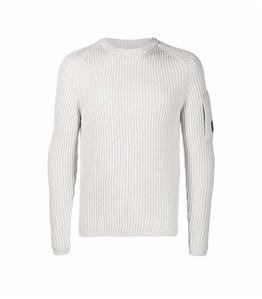 C.P. COMPANY - Maglie - merino wool knit sandshell