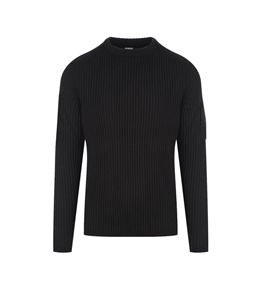 C.P. COMPANY - Maglie - merino wool knit nero