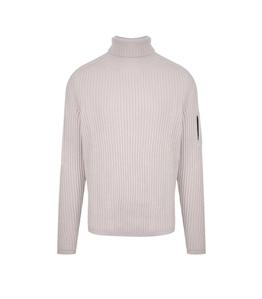 C.P. COMPANY - Maglie - merino wool roll neck knit sandshell