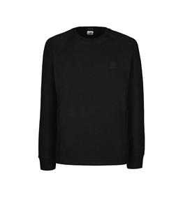 C.P. COMPANY - Felpe - metropolis series diagonal raised fleece sweatshirt nero