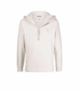C.P. COMPANY - Felpe - metropolis series diagonal raised fleece half zip hoodie sandshell