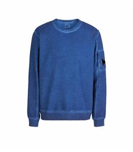 C.P. COMPANY - Felpe - diagonal fleece sweatshirt blueprint