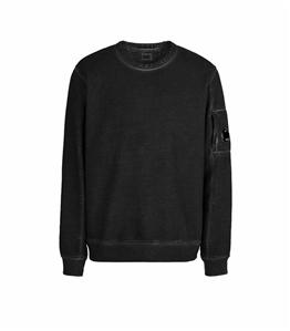 C.P. COMPANY - Felpe - diagonal fleece sweatshirt nero