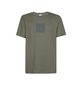 C.P. COMPANY - T-Shirt - t-shirt metropolis series 30/1 jersey con badge logo grigio
