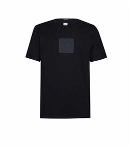 C.P. COMPANY - T-Shirt - t-shirt metropolis series 30/1 jersey con badge logo nero