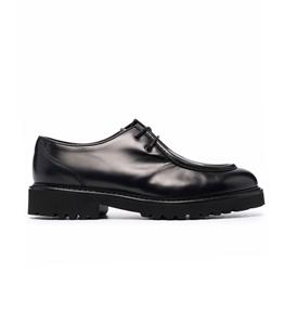 Doucal's - Scarpe - Sneakers - scarpa nera bordata con stringhe nera