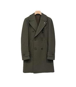 L.B.M.1911 - Cappotto - cappotto doppiopetto verde