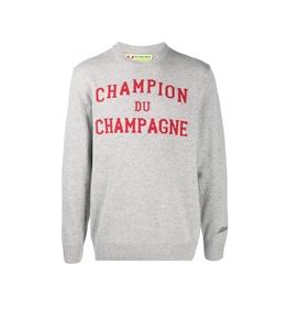 Mc2 Saint Barth - Maglie - maglione champion du champagne con stampa grigio