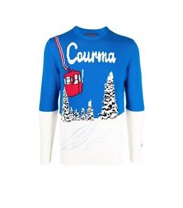 Mc2 Saint Barth - Maglie - maglione courma con stampa bluette