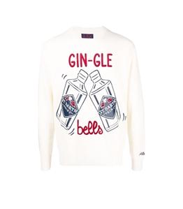 Mc2 Saint Barth - Maglie - maglione gin-gle bells bianco