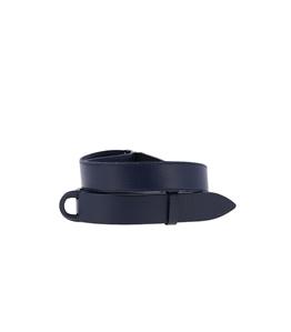 Orciani - Cinture - cintura nobuckle bull in cuoio blu navy