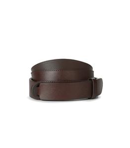 Orciani - Cinture - cintura nobuckle saffiano in pelle testa di moro