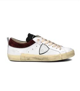 Philippe Model Paris - Scarpe - Sneakers - prsx daim collier - blanc bordeaux