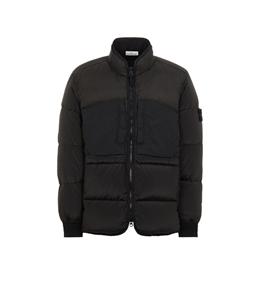 Stone Island - Giubbotti - modified panama 6/3 ht nylon mix fabrics down-tc nero