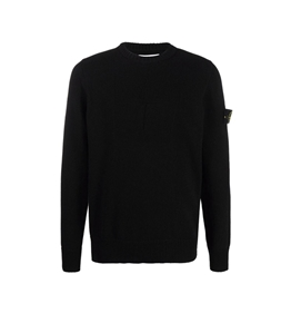 Stone Island - Maglie - lana cotone comfort nero