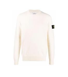 Stone Island - Maglie - lana cotone comfort bianco naturale