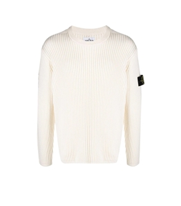 Stone Island - Maglie - maglia girocollo lana bianco naturale