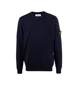 Stone Island - Maglie - maglia girocollo lana blu navy