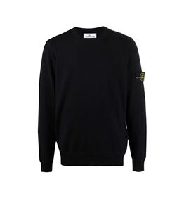 Stone Island - Maglie - maglia girocollo lana nero