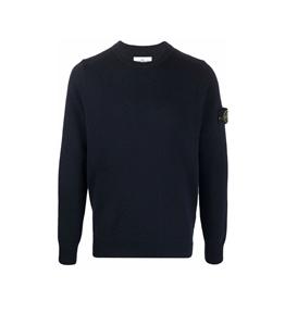 Stone Island - Maglie - maglia lambswool blu navy