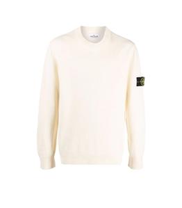 Stone Island - Maglie - maglia ciniglia di cotone bianco naturale
