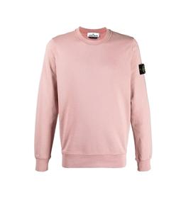Stone Island - Felpe - felpa di cotone nylon rosa antico