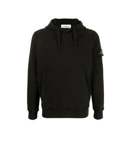 Stone Island - Felpe - felpa jersey con cappuccio nera