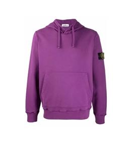 Stone Island - Felpe - felpa jersey con cappuccio magenta