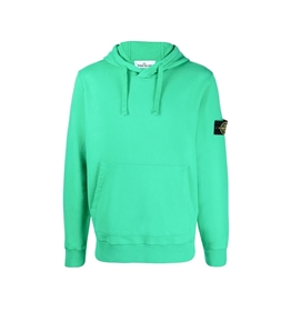 Stone Island - Felpe - felpa jersey con cappuccio verde