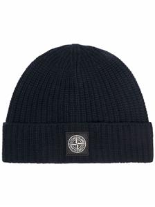 Stone Island - Cappelli - cappello lana cotone comfort blu navy