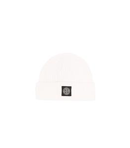 Stone Island - Cappelli - cappello lana cotone comfort bianco naturale