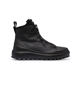 Stone Island - Scarpe - Sneakers - boot in pelle leather/dyneema dual lacing system nero
