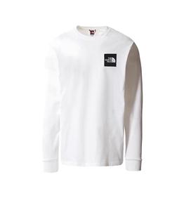 The North Face - Maglie - t-shirt a maniche lunghe boruda bianca